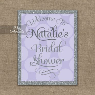 Bridal Shower Welcome Sign - Lilac Silver Gray