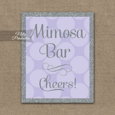 Mimosa Bar Sign - Lilac Silver Gray
