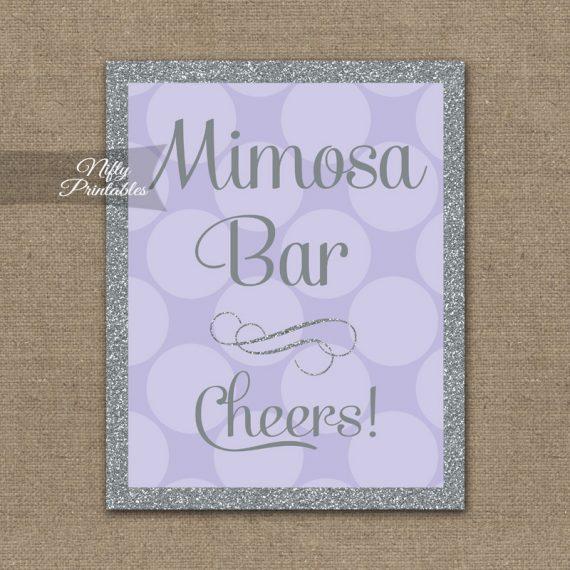 Mimosa Bar Sign - Lilac Silver Gray