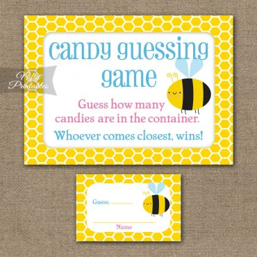 Candy Guessing Game - Bumble Bee