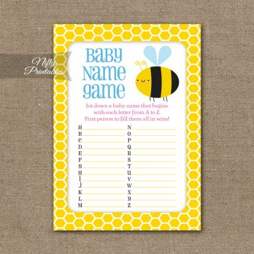 Name Game Baby Shower - Bumble Bee