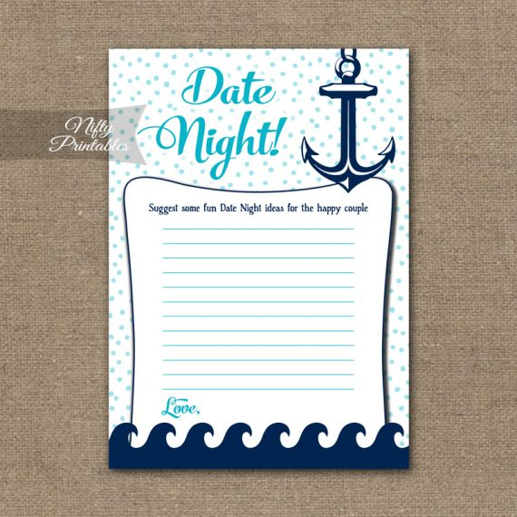 Bridal Shower Date Night Ideas - Aqua Nautical