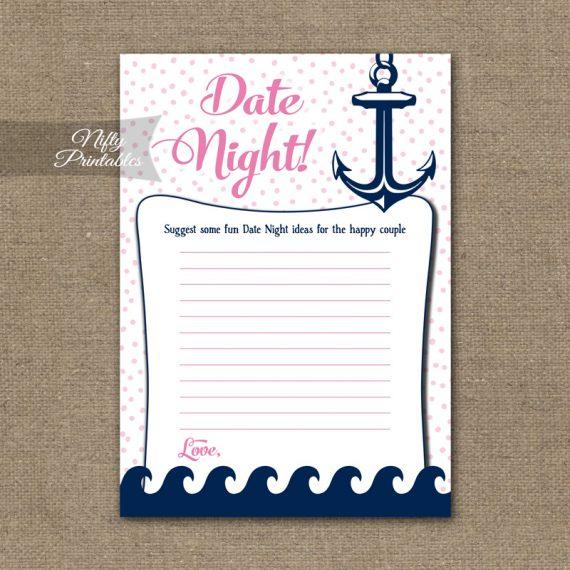 Bridal Shower Date Night Ideas - Pink Nautical
