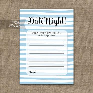 Bridal Shower Date Night Ideas - Blue Drawn Stripe