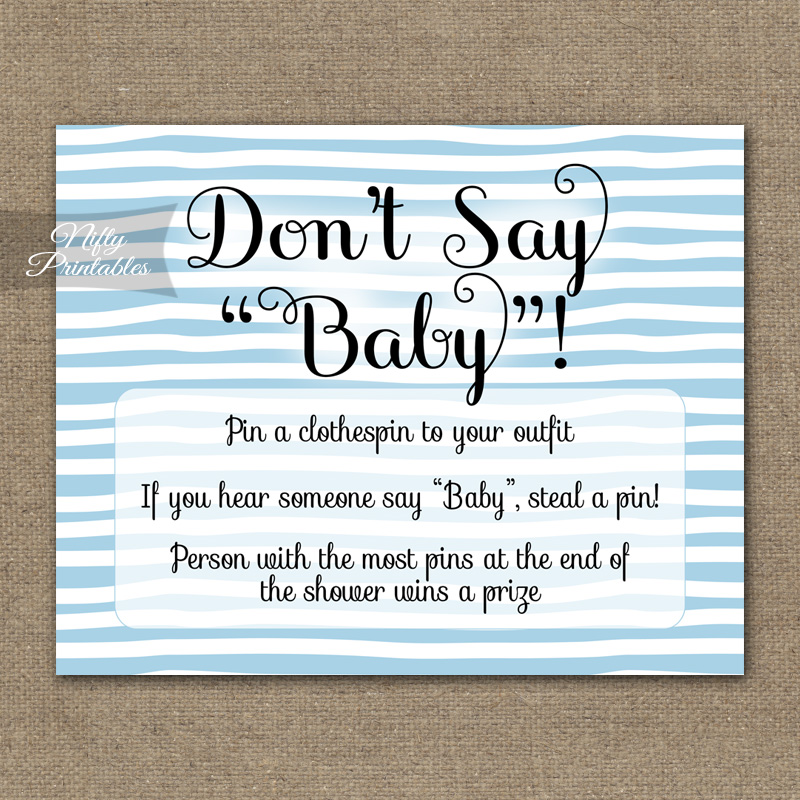 Fabulous image throughout free don't say baby printable