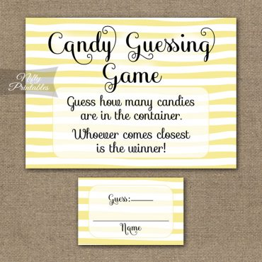 Candy Guessing Game - Yellow Drawn Stripe