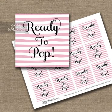 Ready To Pop Tags - Pink Drawn Stripe