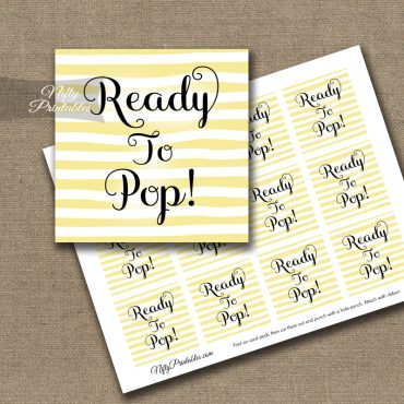 Ready To Pop Tags - Yellow Drawn Stripe