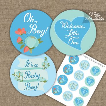 It's A Boy Toppers - Heart Floral