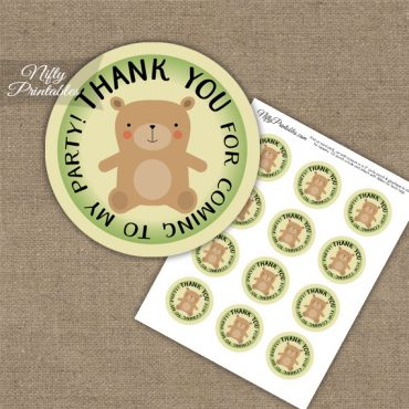 Thank You For Coming Favor Tags - Bear