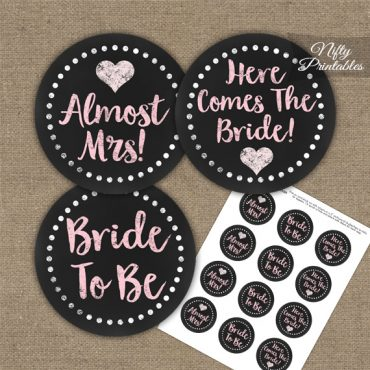 Bridal Shower Toppers - Pink Chalkboard