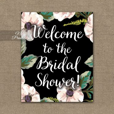 Bridal Shower Sign - White Floral