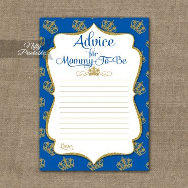 Advice For Mommy Baby Shower Game - Royal Baby Shower