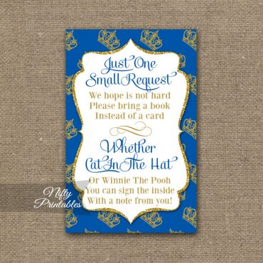 Bring A Book Baby Shower Insert - Royal Baby Shower