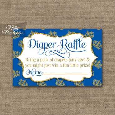 Diaper Raffle Baby Shower - Royal Baby Shower