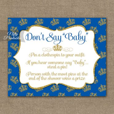 Don't Say Baby Shower Game - Royal Baby Shower