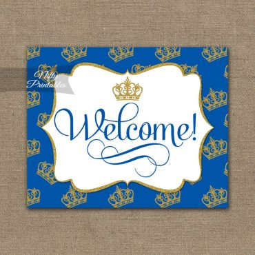 Welcome Sign - Royal Baby Shower
