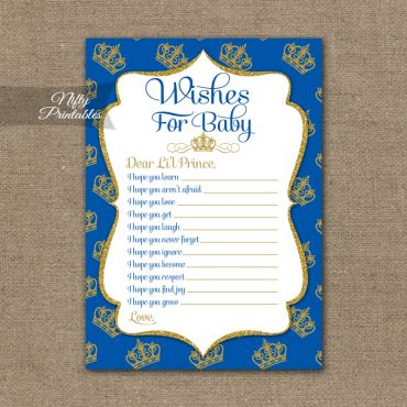 Wishes For Baby Shower Game - Royal Baby Shower