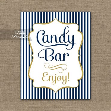 Candy Buffet Sign - Navy Blue & Gold