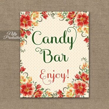 Candy Buffet Sign - Autumn Floral