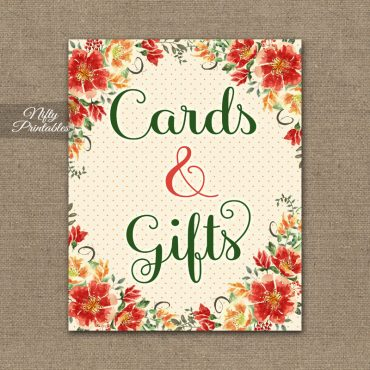 Cards & Gifts Sign - Autumn Floral