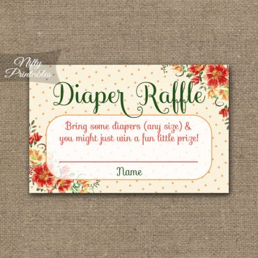 Diaper Raffle Baby Shower - Autumn Floral
