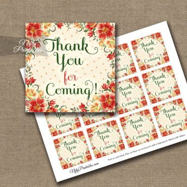 Thank You For Coming Tags - Autumn Floral