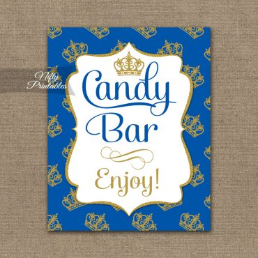 Candy Buffet Sign - Royal Baby Shower