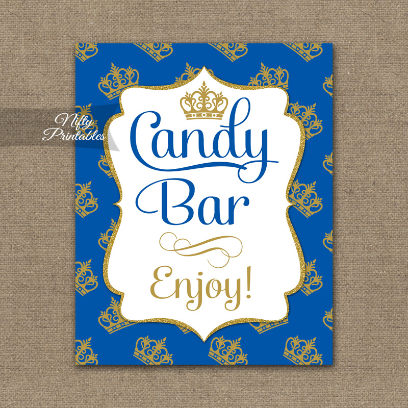 Candy Buffet Sign - Royal Baby Shower - Nifty Printables
