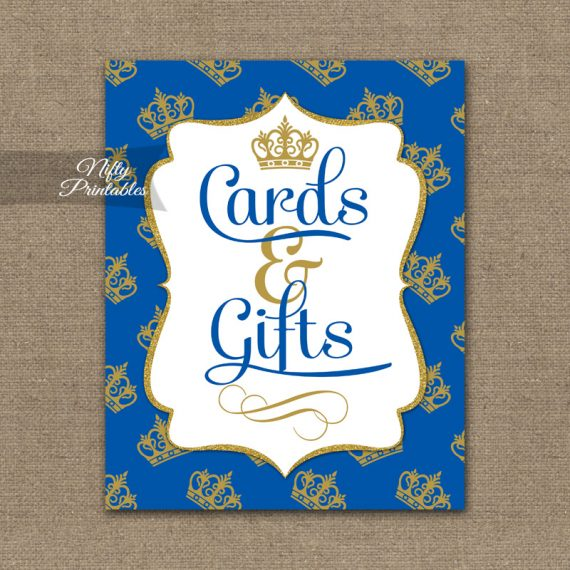 Cards & Gifts Sign - Royal Baby Shower