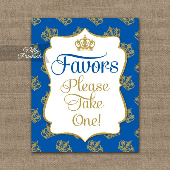 Favors Sign - Royal Baby Shower