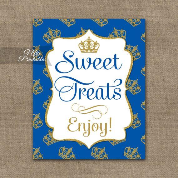 Sweet Treats Dessert Sign - Royal Baby Shower