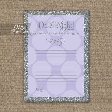 Bridal Shower Date Night Ideas - Lilac Dots Silver