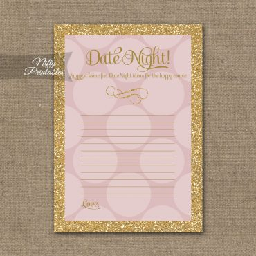 Bridal Shower Date Night Ideas - Pink Dots Gold