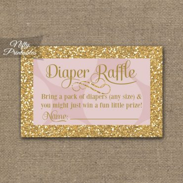 Diaper Raffle Baby Shower - Pink Dots Gold