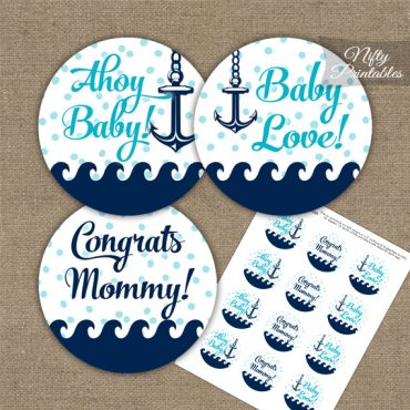 Baby Shower Toppers - Aqua Nautical