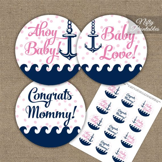 Baby Shower Toppers - Pink Nautical