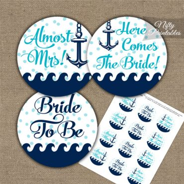 Bridal Shower Toppers - Aqua Nautical