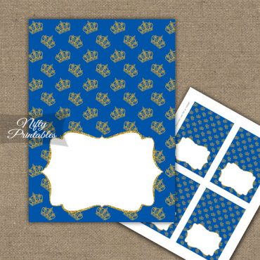 Buffet Tent Cards - Place Cards - Royal Baby Shower
