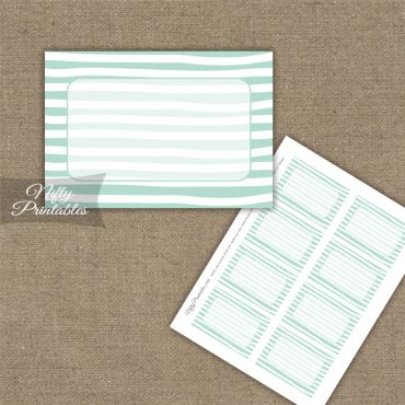 Labels - Mint White Stripe