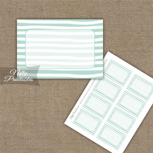 Labels - Mint White Stripe