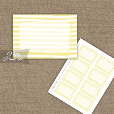 Labels - Yellow White Stripe