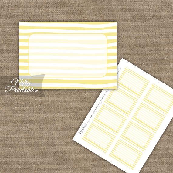 Labels - Yellow White Stripe