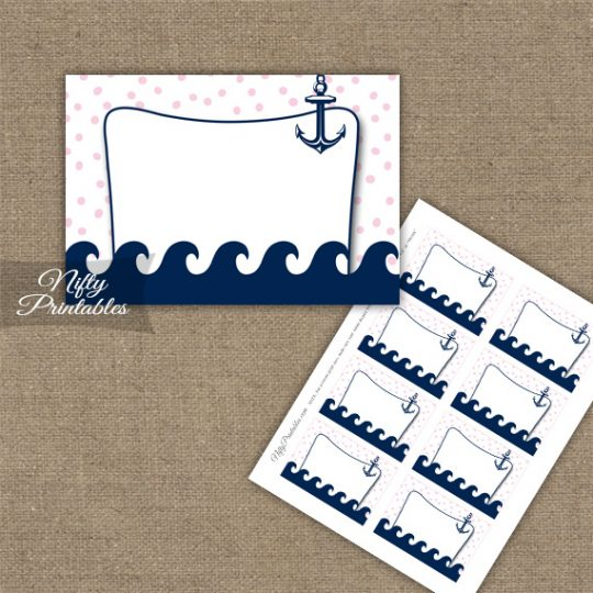 Labels - Pink Nautical
