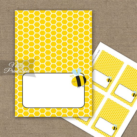 Buffet Tent Cards - Bumble Bee