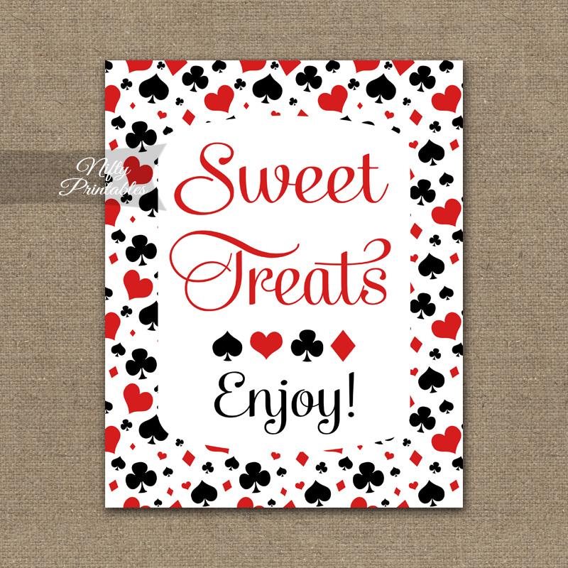 Sweet Treats Dessert Sign