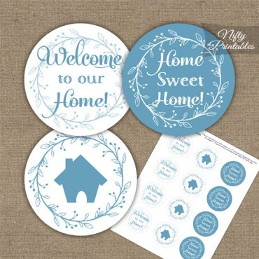 Housewarming Toppers - Blue & White Wreath