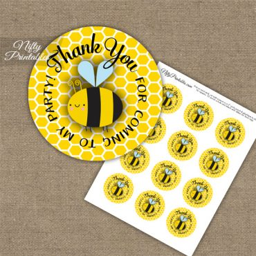 Thank You For Coming Favor Tags - Bumble Bee Birthday