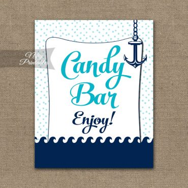 Candy Buffet Sign - Aqua Nautical