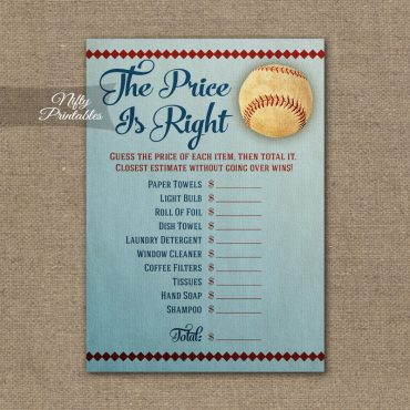 Price Is Right Bridal Shower Game - Baseball